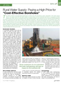 Rural Water Supply - Paying a High Price for Cost effective boreholes_Page_1